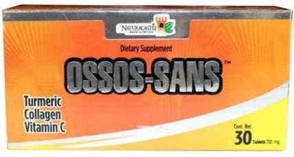 Ossos Sans 30 Tablets 700 mg ea by Naturacastle Help Improve The Pain and Inflammation of Bones, Osteoporosis, Joints and Muscles