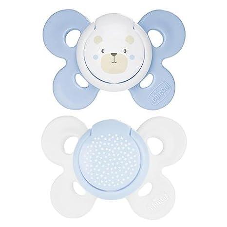 Chupete Chicco Physio Comfort silicona 2pz Azul Blanco 0 - 6 ...
