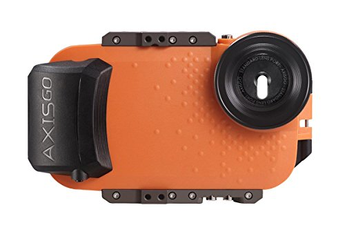 AquaTech AxisGO iPhone 7+/8+ Waterproof Photo and Video Case (33ft/10m) for Surfing Swimming Snorkeling, Orange