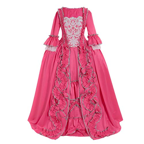 (CosplayDiy Women's Rococo Ball Gown Gothic Victorian Dress Costume (S, Rose)