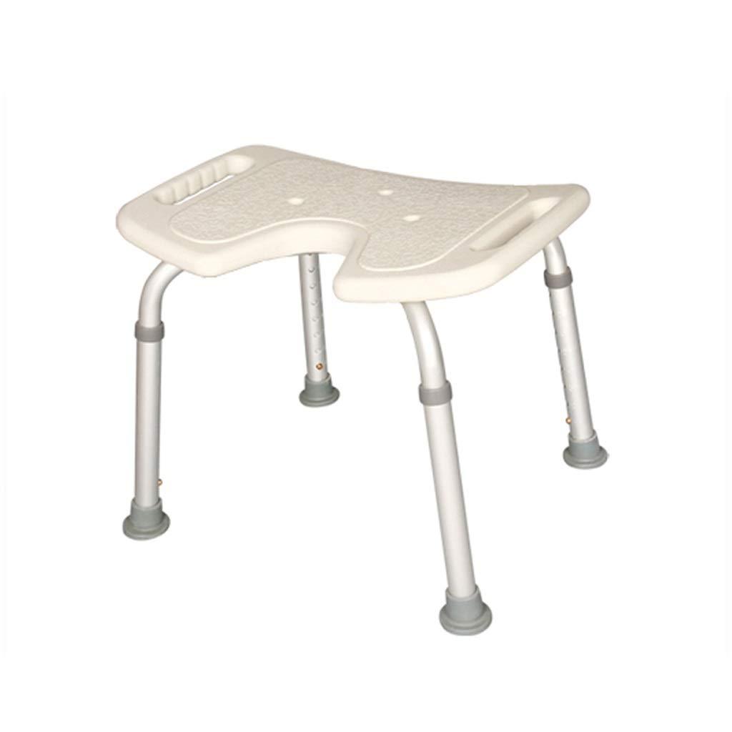 XINGPING-Bath Stool Sedia da Bagno Sedia da Bagno per Anziani Sedia da Bagno per disabili Sedia da maternit/à Sedia da Doccia Sgabello da Bagno Antiscivolo in Lega di Alluminio