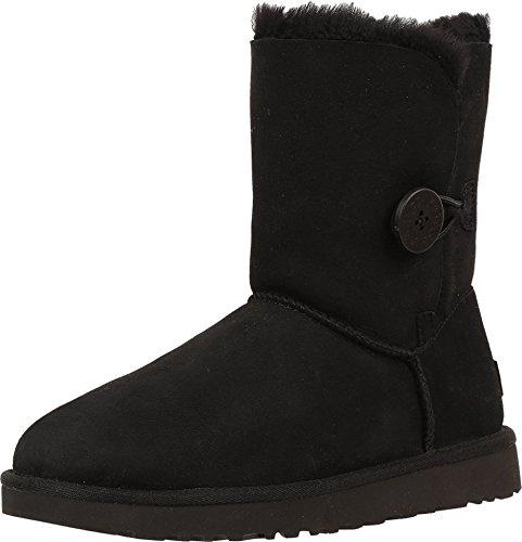 UGG Women's Bailey Button II Winter Boot, Black, 9 B US (Black Ugg Short Classic Boots)