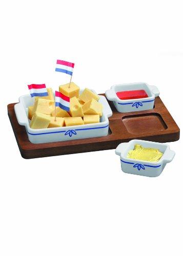 Boska Holland 853535 Tapas Cheese Cups, Delft Blue (Delft Pottery)