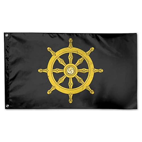 UDSNIS Dharma Wheel Garden Flag 3 X 5 Flag For Holiday Seaso