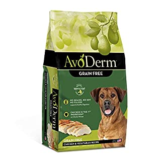 AvoDerm Natural Grain Free Chicken and Vegetables Recipe All Life Stages Dry Dog Food 4 lb
