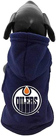 All Star Dogs NHL Unisex NHL Edmonton Oilers Polar Fleece Hooded Dog Sweatshirt