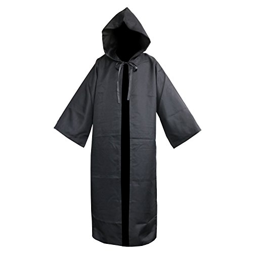 (FantasyParty Tunic Hooded Cloak Halloween Costume Adult Cosplay Gothic Costume Cape,XXL)