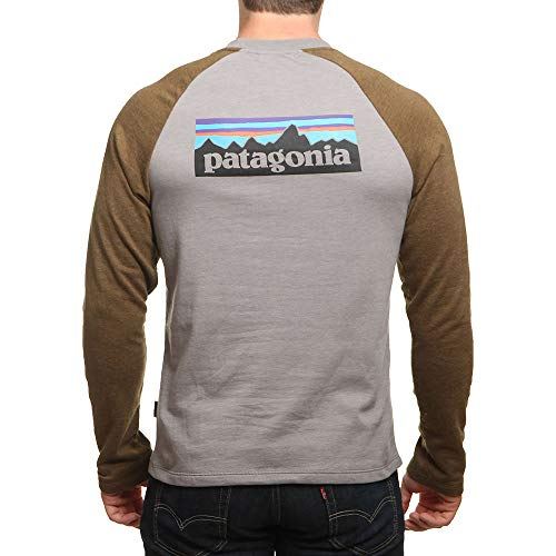 Patagonia Feather Crew Sweater 6 P Logo Grey Lw OYyRrY6q