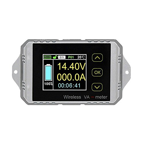 100V 300A DC Multifunctional 2.4G Wireless Digital Bi-directional Voltage Current Power Meter Ammeter Voltmeter Capacity Coulomb Counter (DC 0-100V 0-300A)