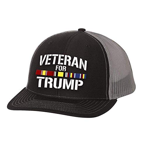 (Auburn Design Shop Iraq Veteran for Trump Trucker Hat)