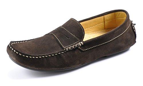 loake-mens-herbert-dark-brown-suede-driving-shoes-42-f-dark-brown