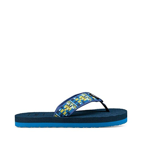 Teva Unisex-Kids K Mush II Flip-Flop, Robbie Blue, 1 M US Little - Flip Kids Flops