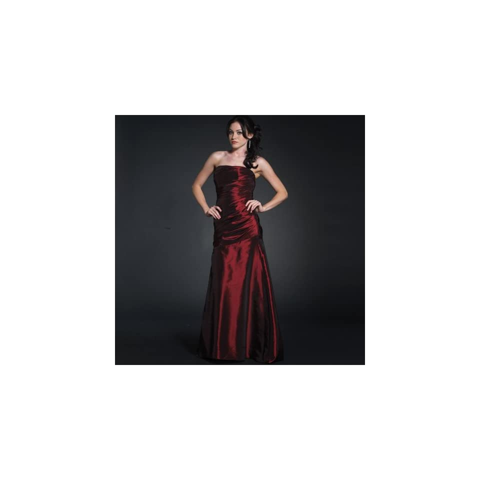 Strapless Red Ball Gown Prom Dress (70505) Wine XL