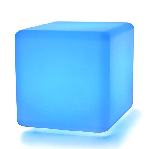 LOFTEK LED Light Cube Table Lamp : 7-inch RGB 16 Colors Kids Night Light with Remote Control, Home Decoration Cube Lamp, UL Listed Adapter, IP65 Protection Grade and Rechargeable Battery