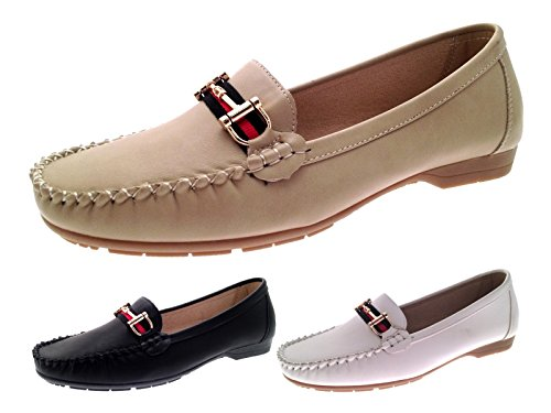 Strong Souls Womens Driving Comfort Moccasins Shoes White uxATyU1A
