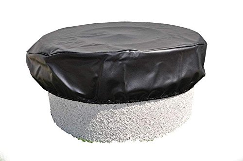 Hearth Products Controls HPC Black Vinyl Fire Pit Cover (FPC-53), Round, 53-Inch
