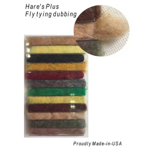 Riverruns 12 Kinds of Dubbing Fly Tying Materials Dispenser Large Box 12 Natural Color New Proudly from Europe Steelhead,Salmon,Saltwater,Warm Water, Worldwide! (Hare