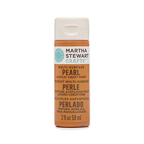 Martha Stewart Crafts Multi-Surface Pearl Acrylic Craft Paint in Assorted Colors (2-Ounce), 32112 Tiger Lily ()