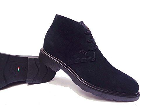 Nero Giardini 5282 scarpe casual da uomo polacchini in camoscio Blu, num. 43