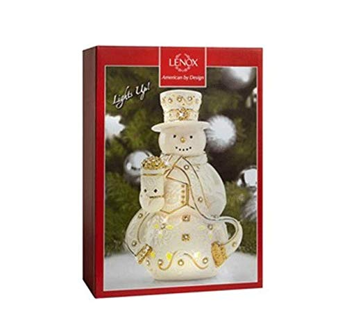 Lenox 875828 Florentine /& Pearl Light Up Snowman Porcelain Figurine