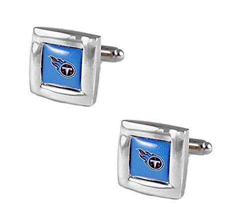 aminco NFL Tennessee Titans Sports Team Logo Square Cufflink