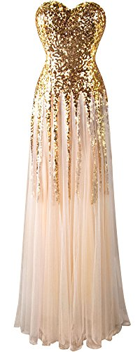New Schatz Angel bodenlangen up Kult fashions Kleid Sequin Lace Gold Damen Gold qwEASEnH7