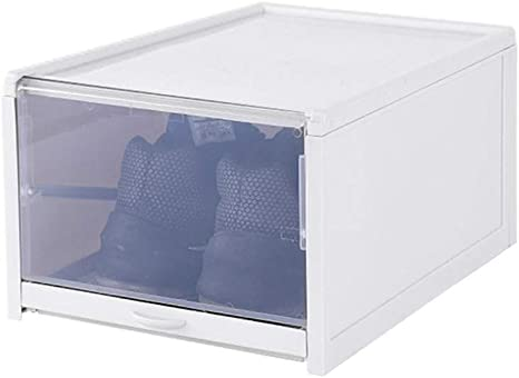 Stackable Plastic Drawer Home Storage Shoe Boxes Cabinet Rack Closet Organizers