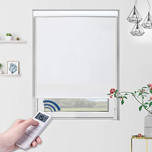 Motorized Shades Motorized Blackout Shades Roller Shades Blackout Blinds for Smart Home and Office 36×72, White