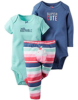 Baby Girls' 3 Piece Take Me Away Set (Baby)