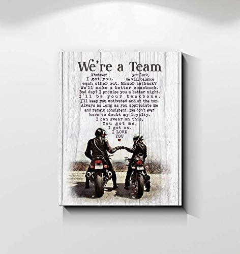 Wolf poster we/'re a team whatever you lack we will balance each other out Minor