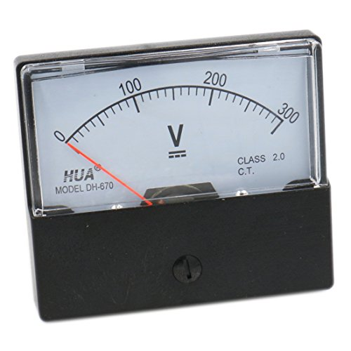 Baomain Dh-670 DC 300v Volt Analog Panel Mount Meter Voltmeter