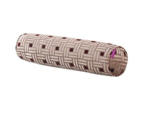 Pillows Cylindrical Washable Pillow (Lattice coffee) (Coffee Lattice)