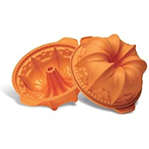 Silikomart Silicone Fancy and Function Bakeware Collection Tube Cake Pan, High Flower