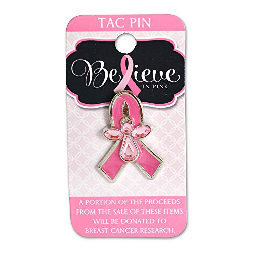Novelty, Inc. Breast Cancer Awareness Believe in Pink Pink Ribbon Tac Pin - Pink Ribbon