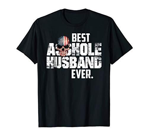 Mens Best Asshole Husband Ever T-Shirt XL Black