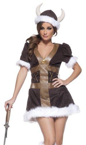 Underwraps Women's Viking Princess, Brown/Tan/White, X-Large