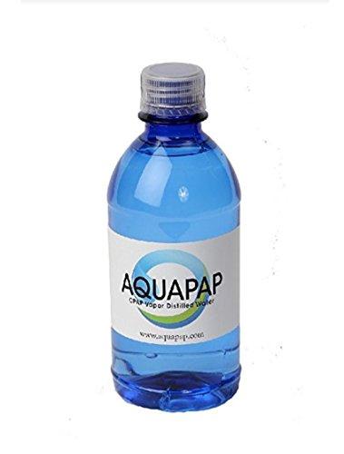 AQUAPAP Vapor Distilled Water For CPAP Machine 12 oz Single Bottle (1)
