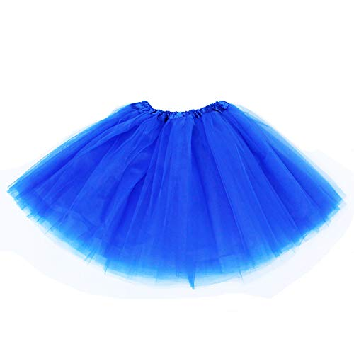 Lalapixie Tutu Skirts for Women Adult Plus Size 3 4 5 Layer (4Layer Royal Blue, XL) ()