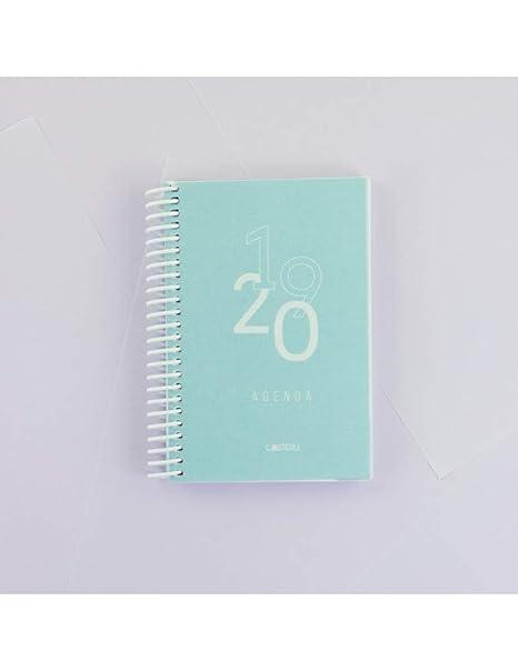 Casterli - Agenda Escolar 2019-2020 Basic Edition - Día Página, Tamaño A6 (Azul Cielo)