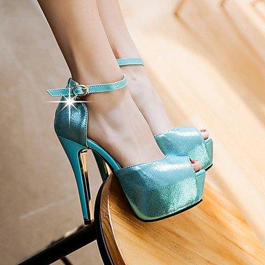 LvYuan Mujer-Tacón Stiletto-Otro-Sandalias-Oficina y Trabajo Vestido Fiesta y Noche-PU-Azul Oro Blue