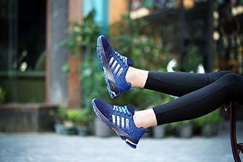 Uomo Donna Scarpe Da Sportive Running Basket Sneakers Estive Blu 39