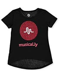"Musical.ly Big Girls' ""Treble Glitter"" T-Shirt"