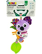 LAMAZE Mini Clip and Go Koala Baby Toy, Clip On Baby Pram Toy and Pushchair Toy, Newborn Sensory Toy for Babies Boys and Girls from 0 to 6 Months