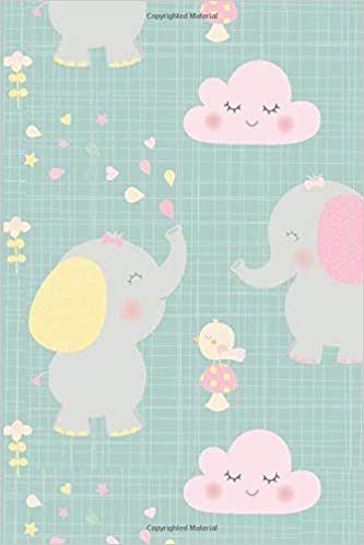 Elephant Notebook Cute Lined Composition For Lovers 6 X 9 Wide Ruled Journal Notepad Diary