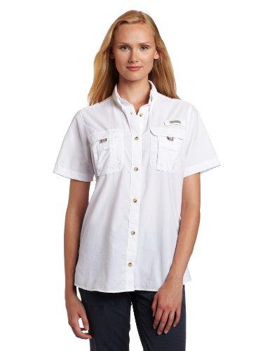 Columbia Women's Bahama Short Sleeve Fishing Shirt (White,