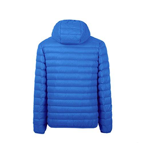 Cherry Piumino Blue Unisex Corto Cappotto Incappucciato Impacchettabile Chick Donna rqH8Or