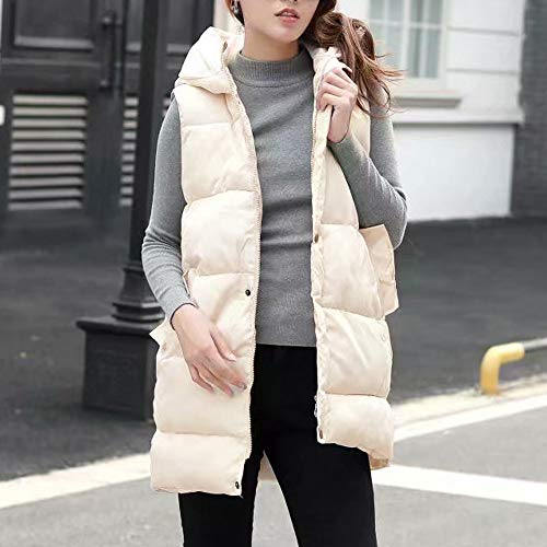 Hooded Alla fashion Pocket Donna Da Outdoor Moda Coat Down Giacca Jacket Vest Bianca Womens pYw1qaKC