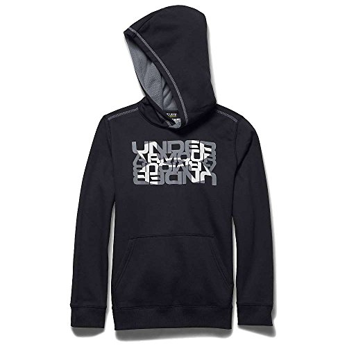 Under Armour Boys' Rival Cotton Logo X2 Hoody Black / Steel Large