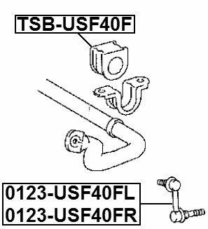FEBEST TSB-USF40F Front Stabilizer Bushing
