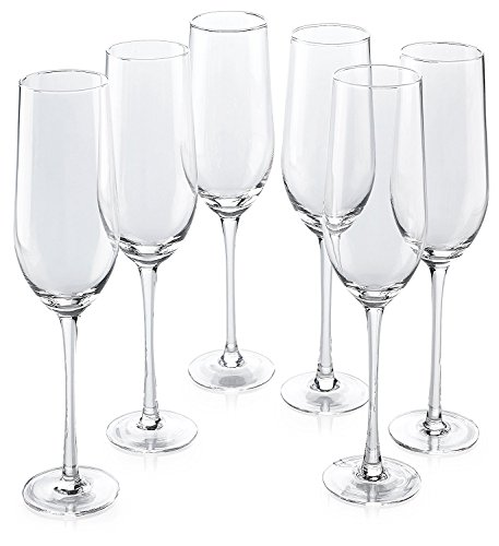 Classic Flute Champagne Glasses, 18-Ounce, Set Of 24 (Set Of 20 Champagne Glasses)